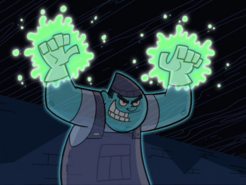 S01e03 Box Ghost glowing hands