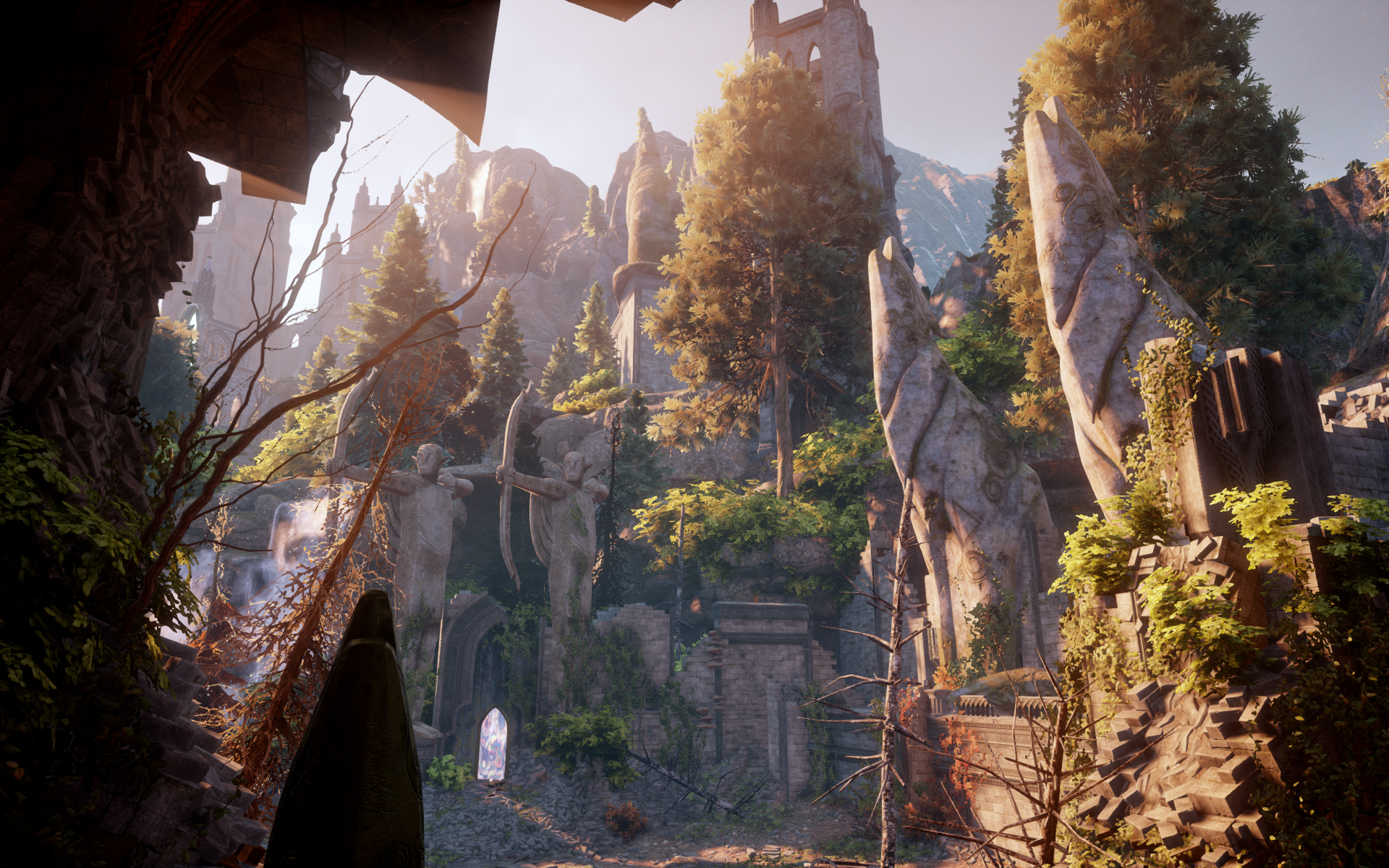 image Exploring the elven ruins the witcher bomyman