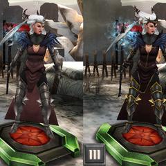 Tier progression of Flemeth in <i><a href=