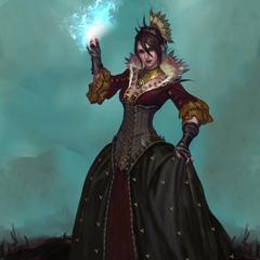 Morrigan in her ballgown in <i><a href=