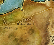 Halamshiral map