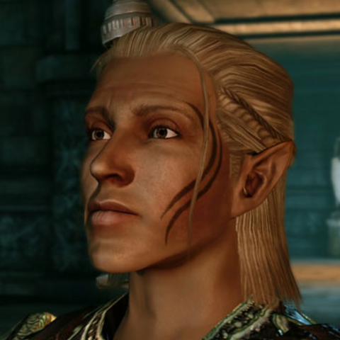 Zevran's facial tattoo