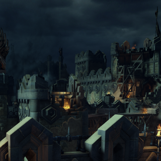 The Battlements of Adamant Fortress