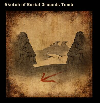 Sketch of Burial Grounds Tomb