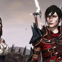 Female Hawke and Bethany