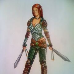 Sketch of Tallis by Greg Aronowitz, Production Designer of <i>Dragon Age: Redemption</i>