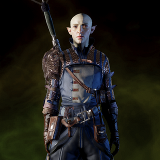 Solas wearing Warden Battlemage Armor
