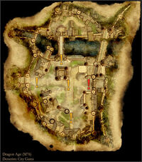 Denerim City Gates - Map by Gamepressure