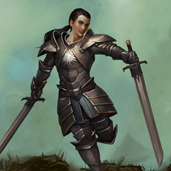 A young Seeker Cassandra in <i>Heroes of Dragon Age</i>