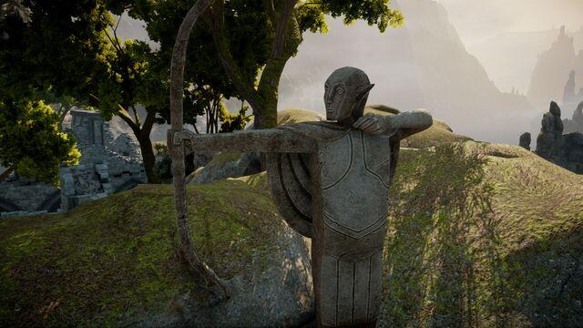 File:Elven archer statue.jpg