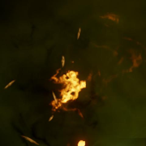 Fire damage version.