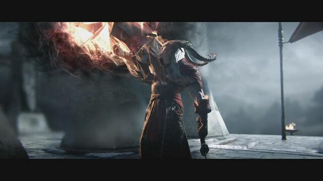 File:Dragon Age 2 Destiny Trailer. Hawke's Gauntlet through fade.jpg