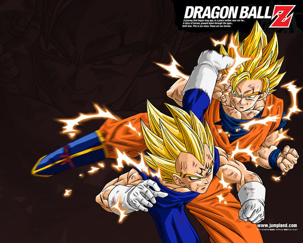 File:Goku SSJ 2 vs Majin Vegeta.jpg