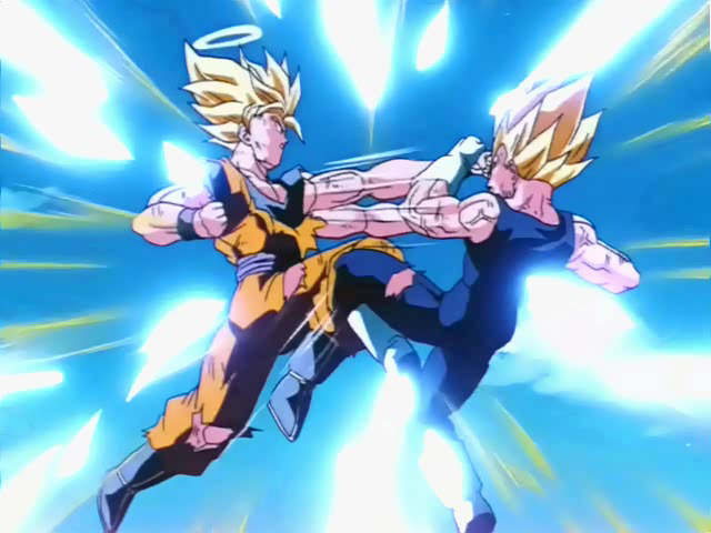 Super Saiyan 2 Goku Vs Majin Vegeta