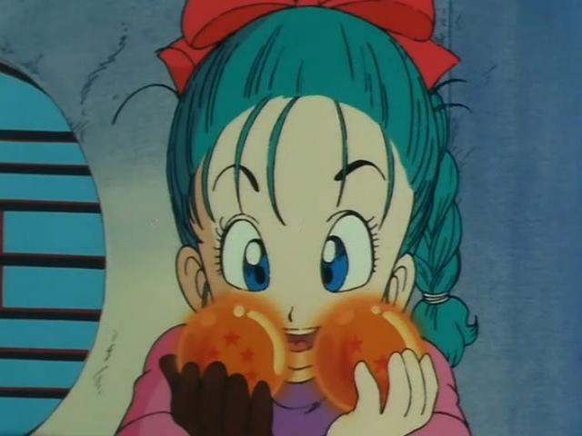File:Bulma showing the DragonBalls to Goku.jpg