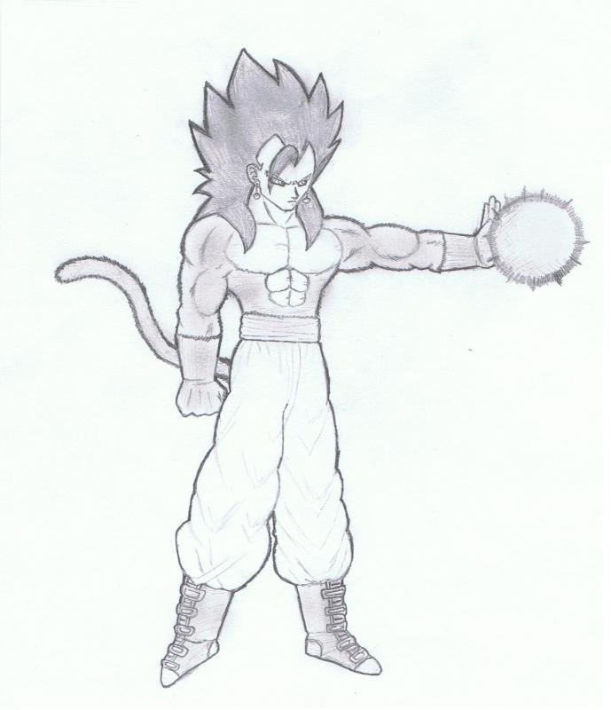 Dbz Goku Ssj4 Drawing This is my Ssj4 Drawing Goku