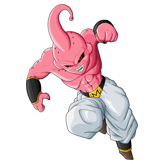 Kid Buu vs Buu Pure Evil