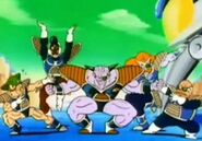 Goose Oggers Strong and Strock posing with Ginyu