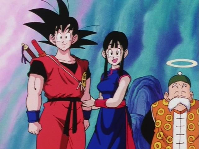File:Goku&ChiChiWithGrandpaGohan.jpg
