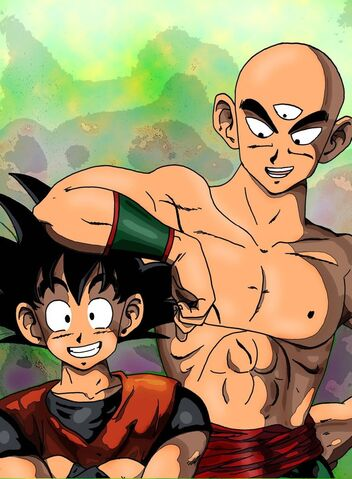 File:Tenshinhan and Son Goku by BLACKNIGHTINGALE81.jpg