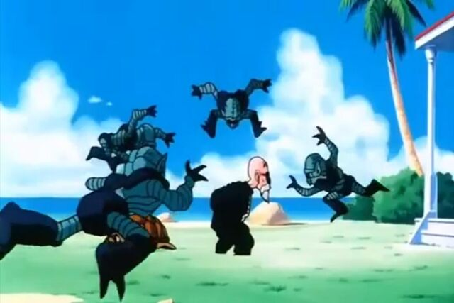 File:Bio men rush to attack Roshi.jpg