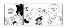 Korin gives Goku a Senzu Bean