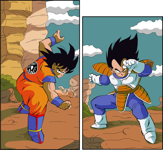 File:Goku Vs Vegeta by eggmanrules.jpg