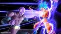 Hit attacking Goku (Super Saiyan Blue)