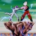 A Final Attack - Goku and Frieza struggle
