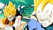 Goku and Vegeta Destroying A Cooler Clone (Return of Cooler)