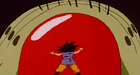 Mouma attacks goku