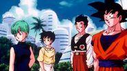 Goku,Gohan,VidelAndBulma