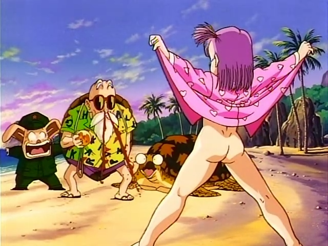 File:Bulma Lifting nightgown pantyless mov.png