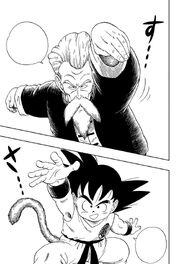 Jackie Chun and Goku face off