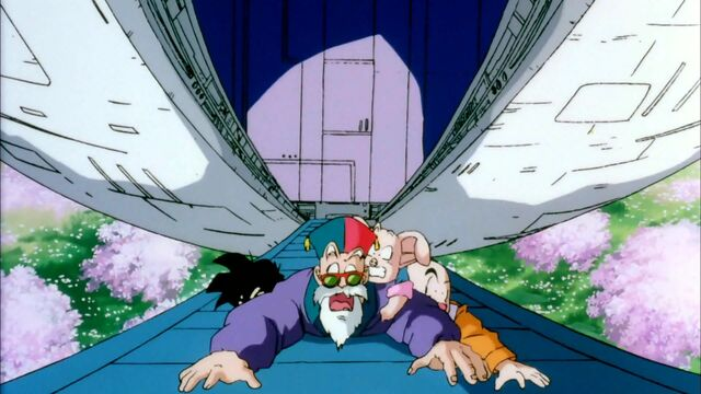 File:Gohan Krillin Oolon and Master Roshi Getting Abducted.jpg