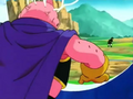 The Evil of Men - Majin Buu mad with smoke coming out of his head