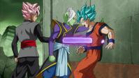 Black stabbing Goku