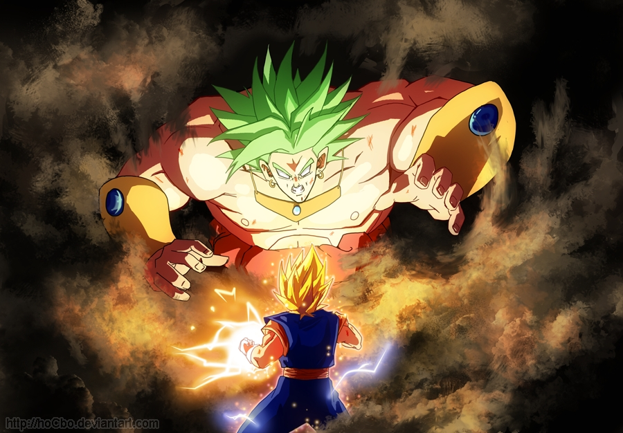 ssj2 kid gohan vs Super bojack, Lssj movie 8 Broly, Perfect Cell ...