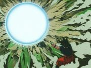 Super spirit bomb used by goku