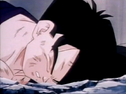 Gohan fell to ground dead after being killed by turles 5