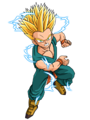 Kid trunks ssj2 by spongeboss-d2zpxlx
