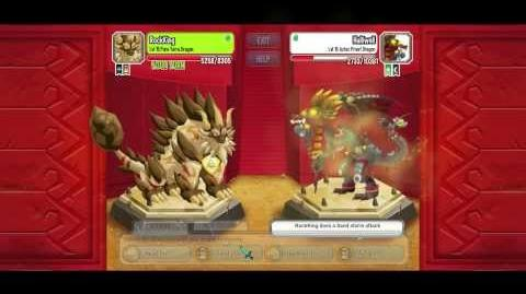 Dragon city aztec island combat 2 Pure terra vs aztec priest dragon