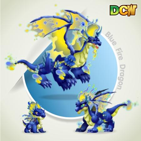 Blue Fire Dragon Blue Fire Dragon on Winter