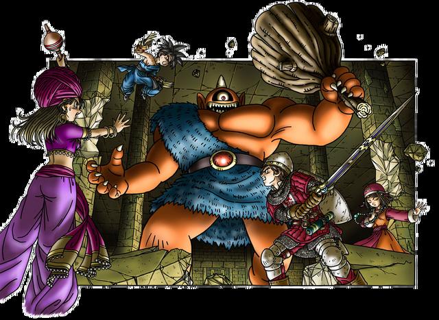 File:DQIX - Party battle Atlas.png