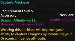 Captor's Necklace Info