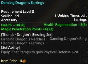 Dancing Dragon's Earrings Info