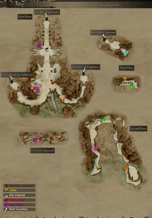 Map Bitterblack Isle