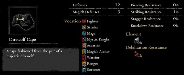 Dragonforged Direwolf Cape