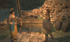 Un jugador habla con Benita.