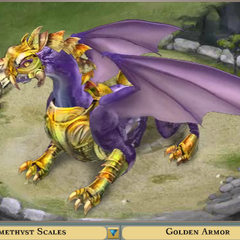 Amethyst Scales with Golden Armor